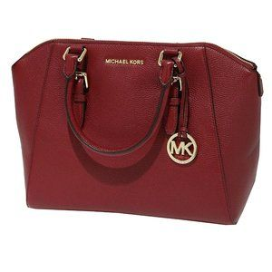 Michael Kors Ciara Large Soft Leather Satchel